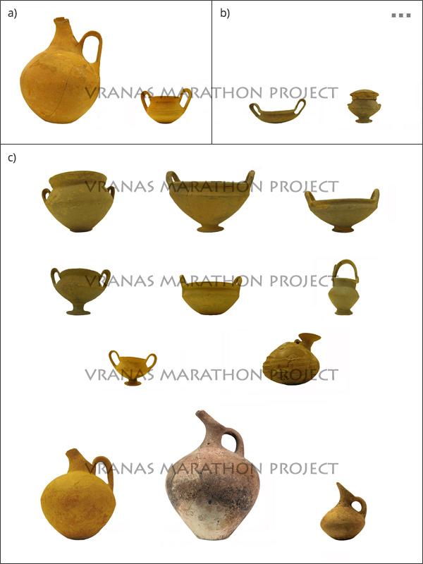Middle Helladic vases from Tumulus I - Vranas Marathon