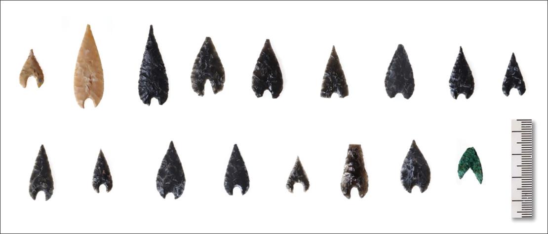 Μυκηναϊκές αιχμές βελών από τον εσώτερο θάλαμο του Τύμβου ΙΙ - Βρανάς Μαραθώνα