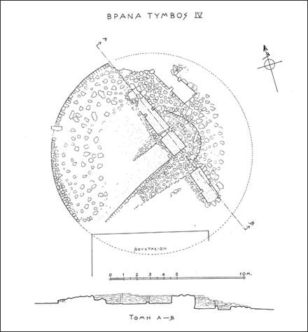 Τύμβος IV, κάτοψη - Βρανάς Μαραθώνα