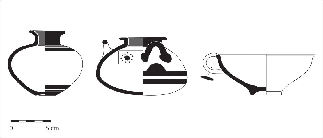 Τύμβος IV, Μυκηναϊκά αγγεία - Βρανάς Μαραθώνα