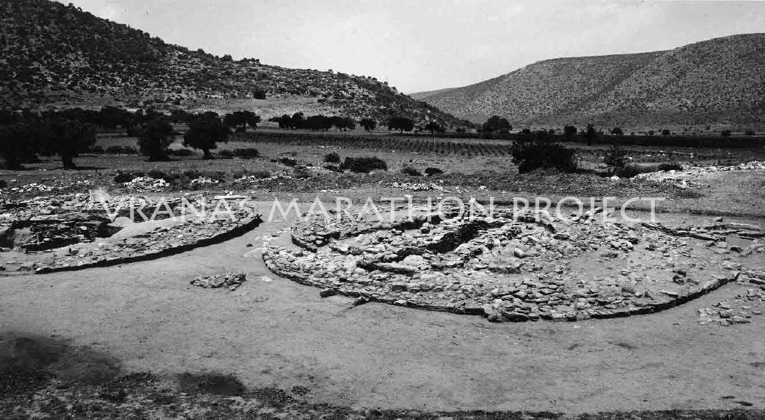 Τύμβοι I & II κατά την ανασκαφή, 1970 - Βρανάς Μαραθώνα